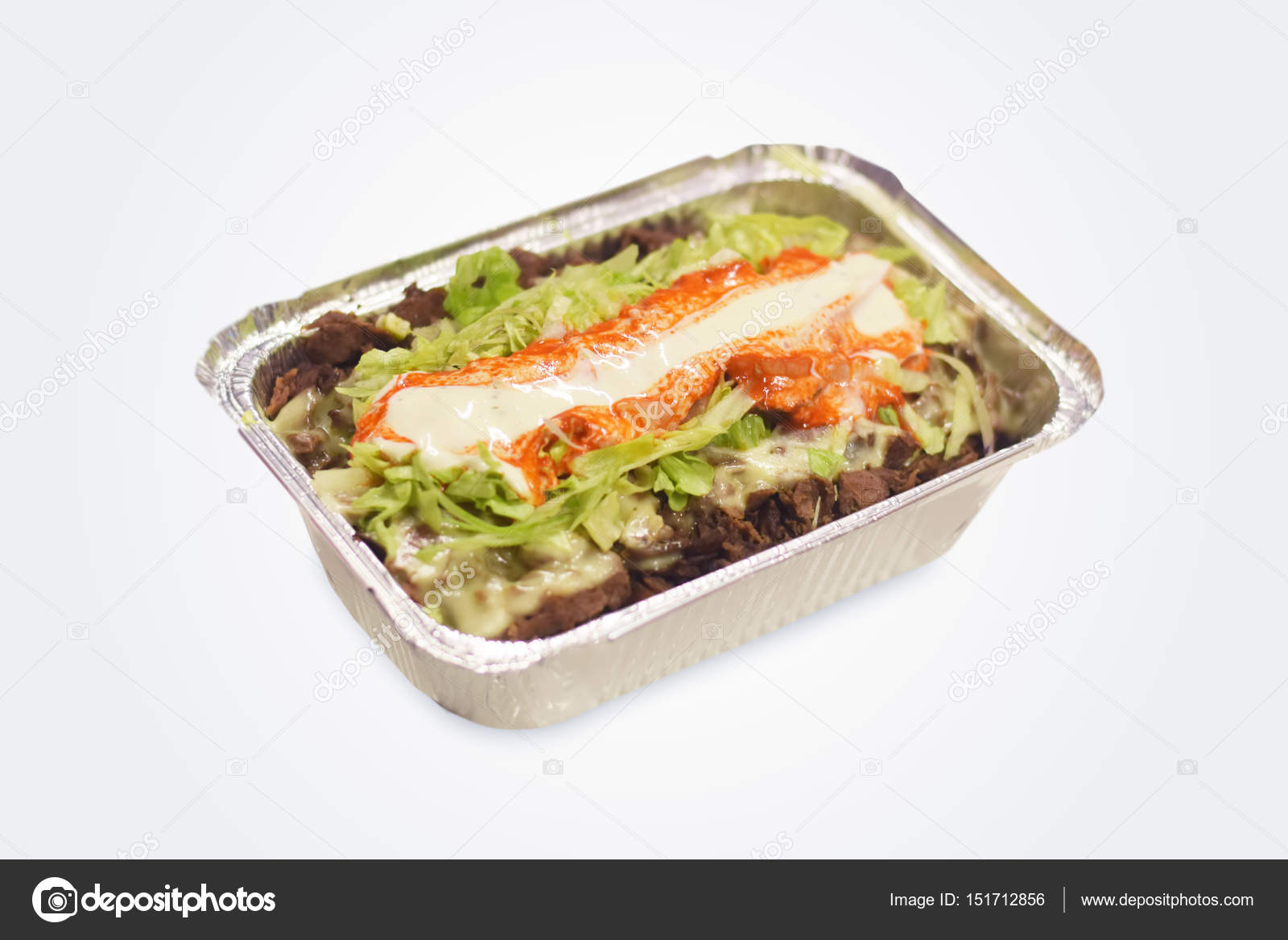 Traditionelle holländische Küche Kapsalon — Stockfoto © blnt07 ...