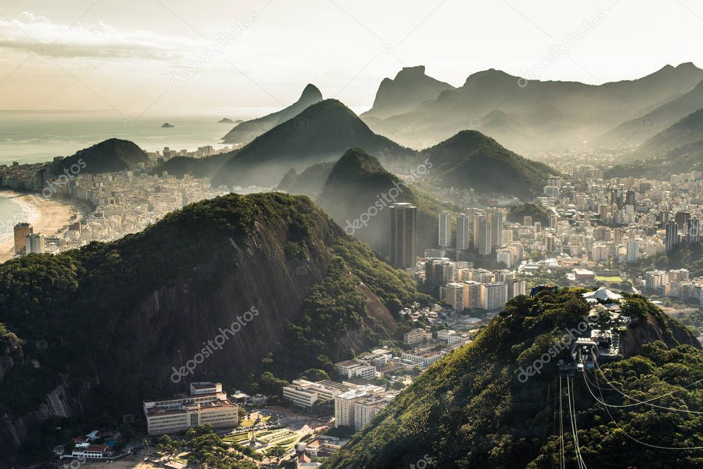 Misty View of Rio de Janeiro by Sunset