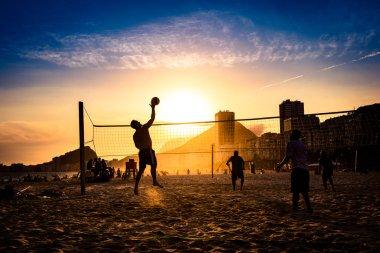 Brazilians Playing Beach Volleyball