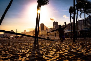 Brazilians Playing Beach Football