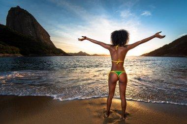 Sexy Brazilian Girl in Bikini at the beach