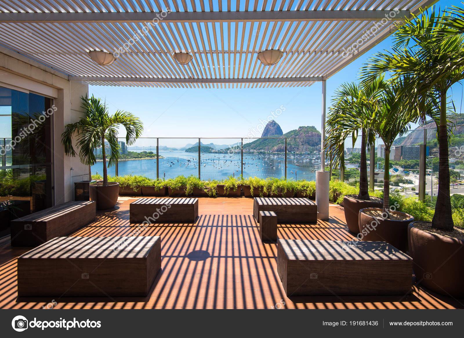Río Janeiro Brasil Febrero 2018 Preciosa Terraza Piso Del