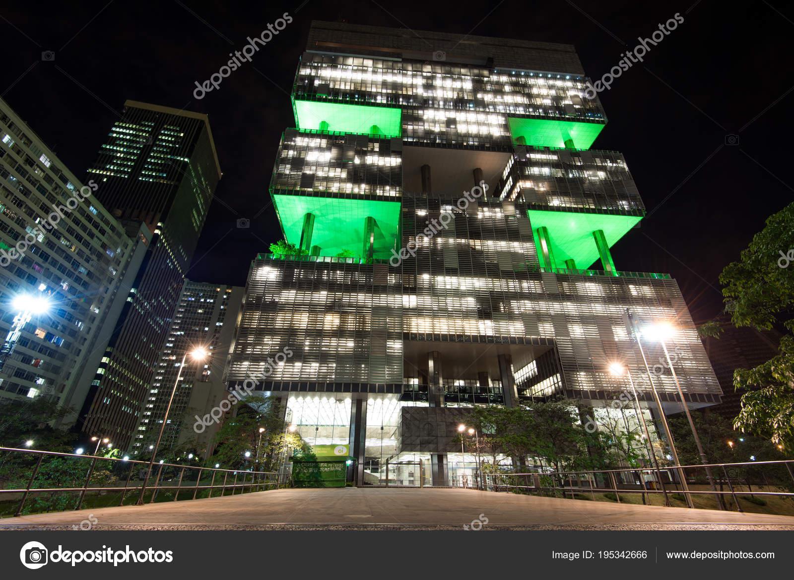 Rio Janeiro Brazilië April 2018 Facade Van Petrobras Bedrijf Bouwen ...