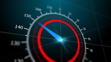 Modern virtual speedometer