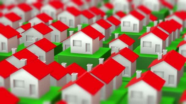 Rostoucí trhy s bydlením jako 3D video animace
