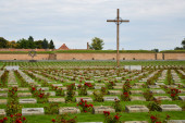 Cemetery in front of the concentration campin in Terezin, Czech Republic.