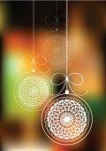 Veselé Vánoce vektorové pozadí s dekorativní koule