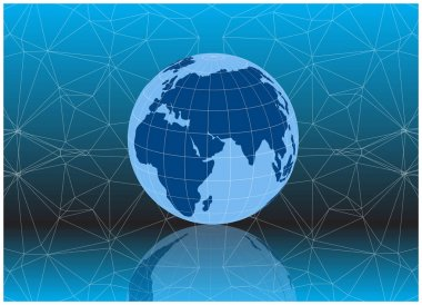 bright vector earth globe model