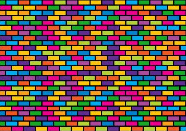 abstract trendy background with vector bricks on black