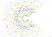 abstraktní vektor rainbow puntíky pozadí, Barevný polotón koncept
