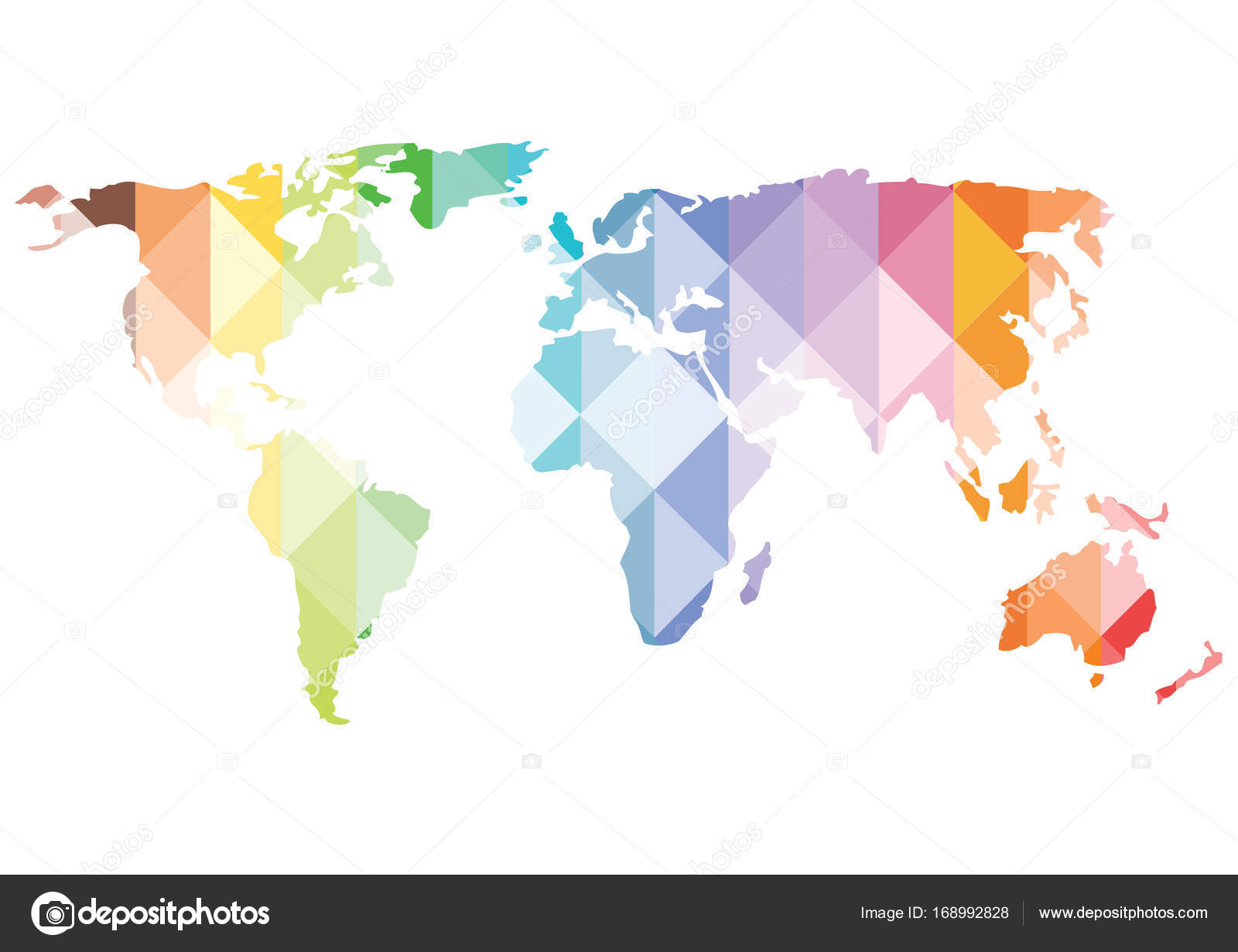 Color vector bright triangles world map silhouette stock vector color vector bright triangles world map silhouette isolated on white background vector by pizla09 gumiabroncs Gallery