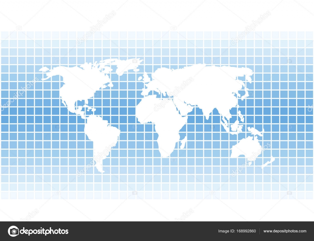 Modern vector squares background with white world map silhouette abstract vector background with white world map silhouette isolated on blue mosaic tiles background vector by pizla09 gumiabroncs Images