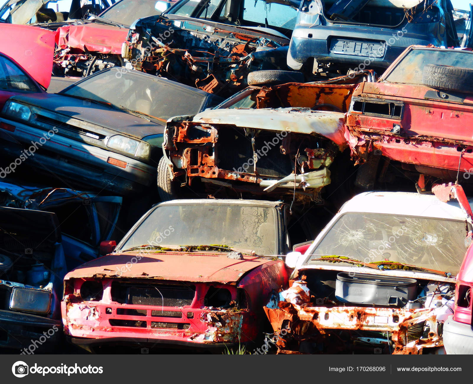 Color Detail Photography Old Cars Wrecks Damaged Cars Junkyard ...