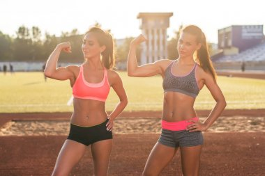 Sporty young women