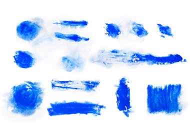 Blue paint watercolor aquarelle stains