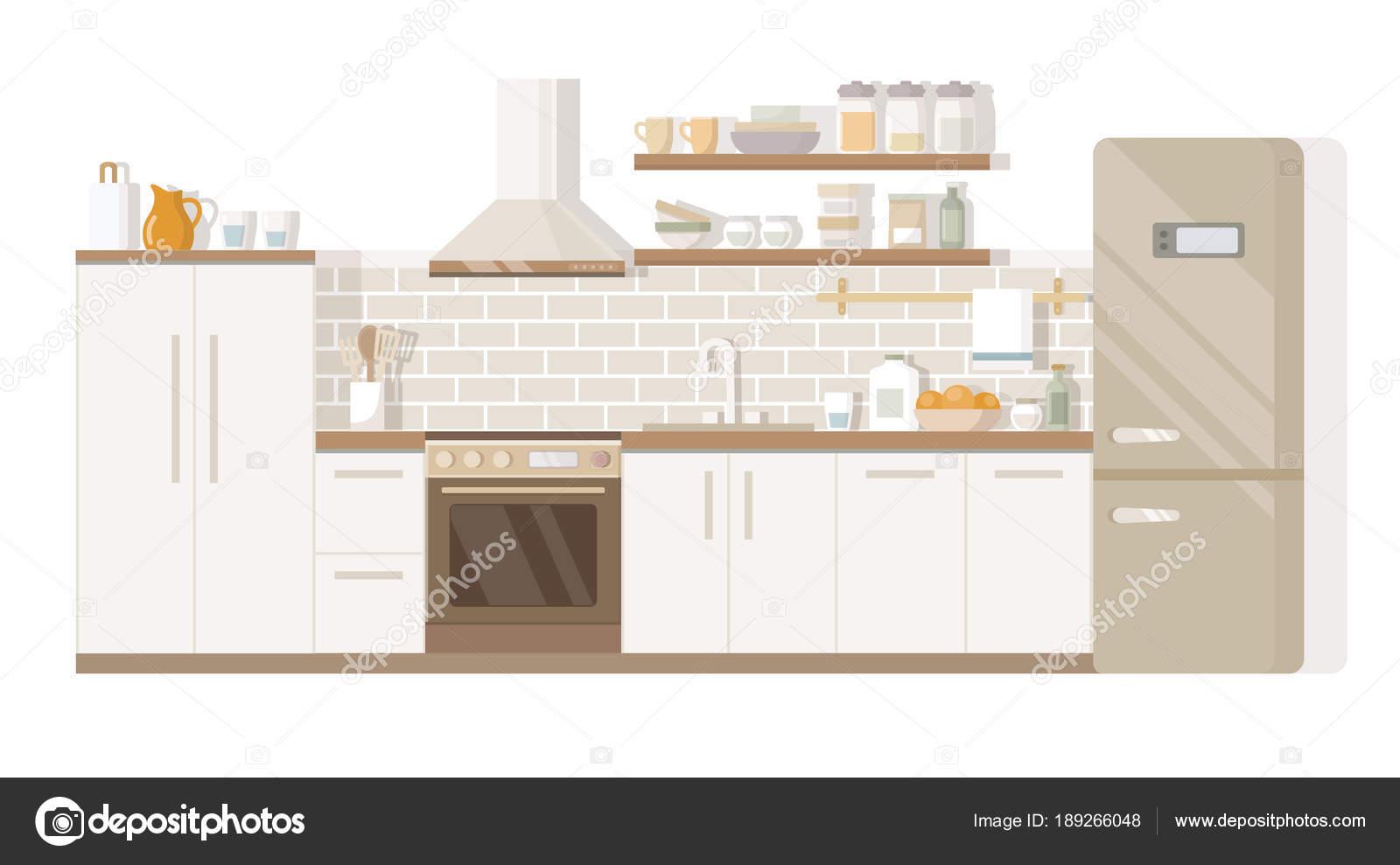 Frigorifero e tavolo da cucina interni mobili per la casa ...