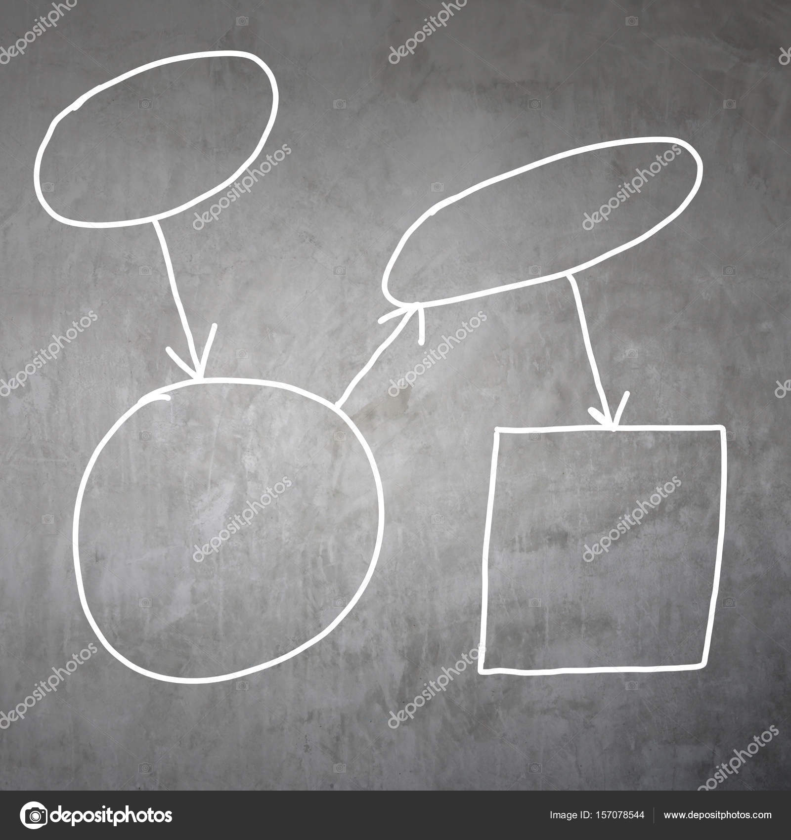 Zeichnen von Grafiken ein Symbole geometrische Formen Diagramm ...