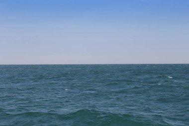 blue sea and sky background.