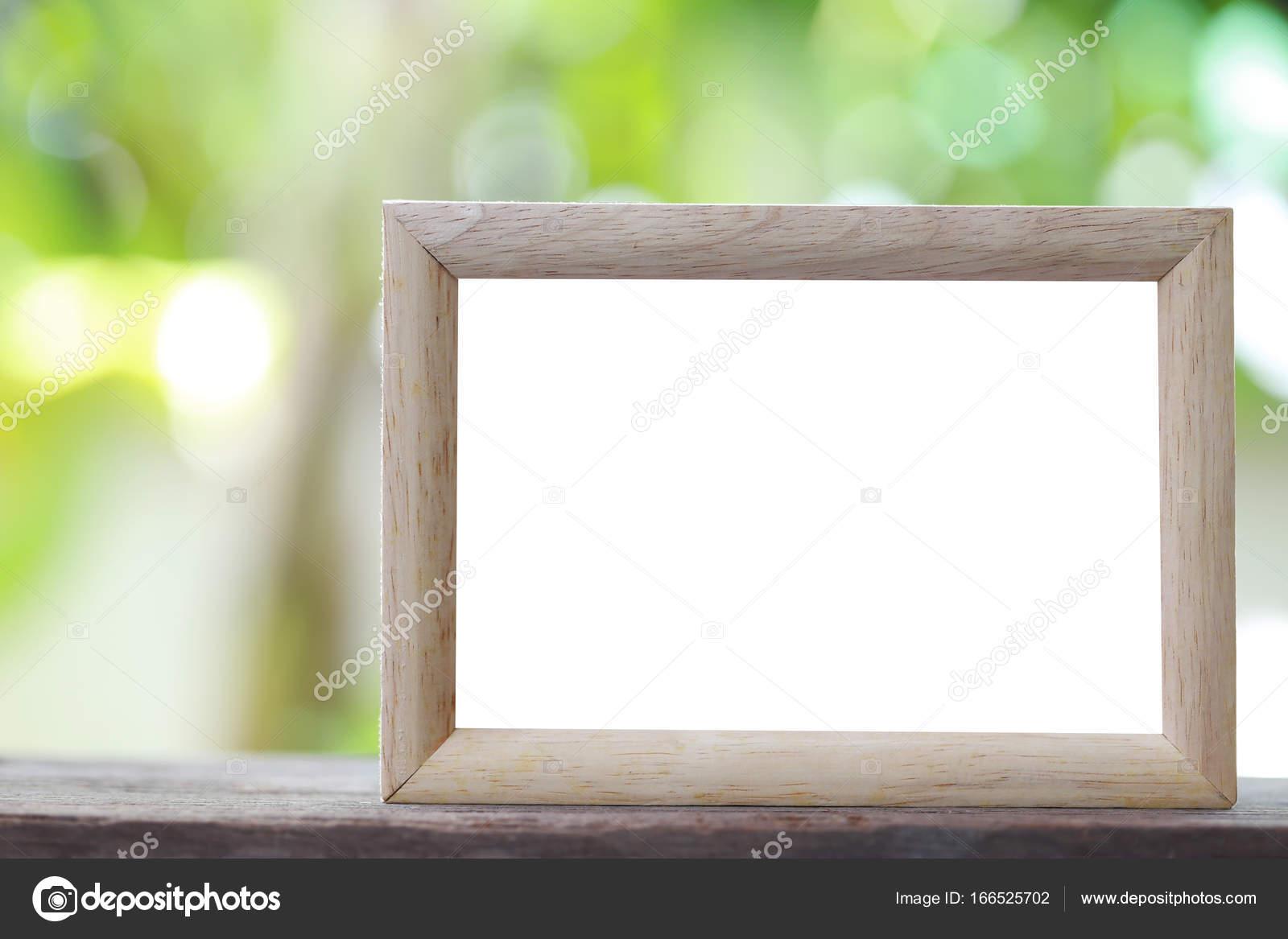 Moderno marco colocado sobre un suelo de madera — Foto de stock ...
