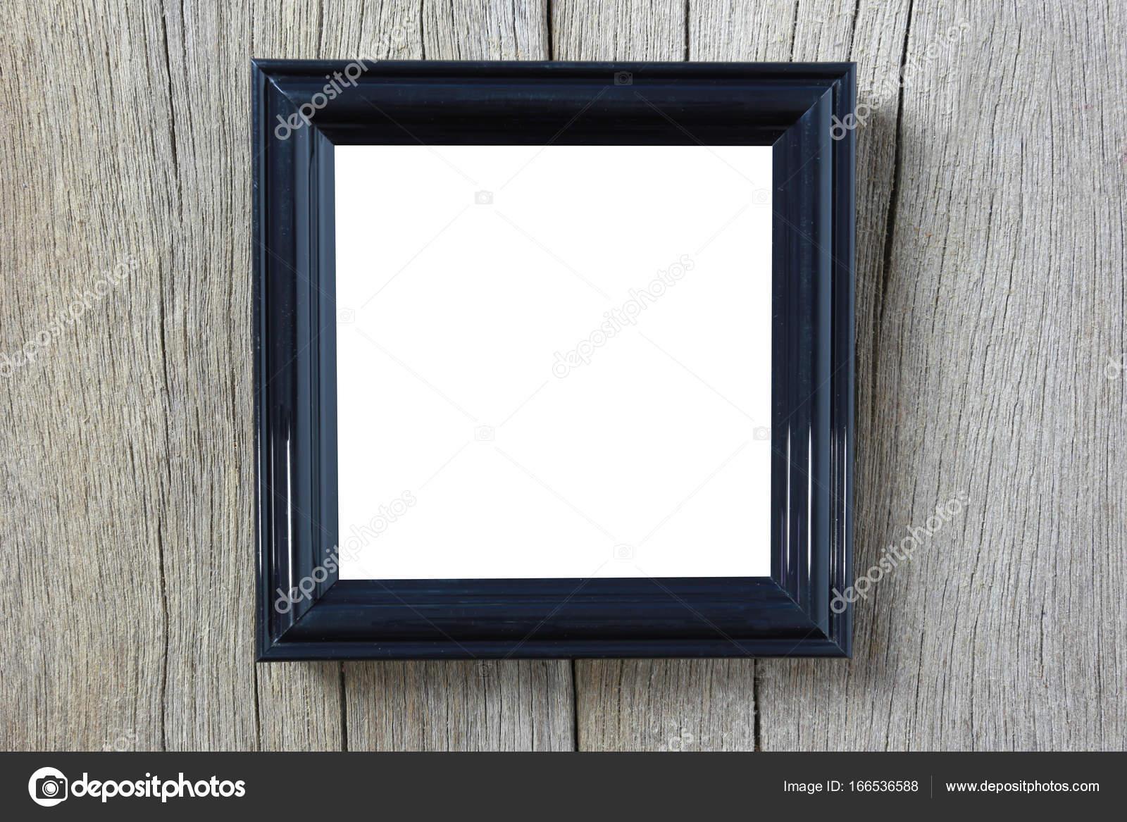 Moderne Bilderrahmen auf Holzwand — Stockfoto © meepoohyaphoto ...