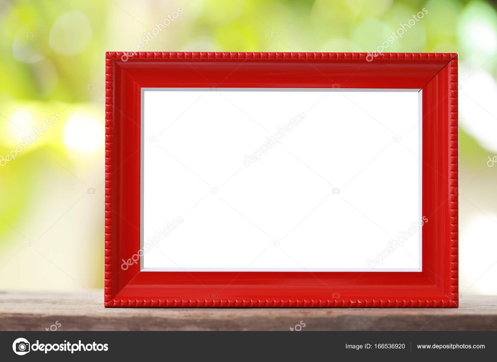 Moderno marco colocado sobre un suelo de madera — Fotos de Stock ...