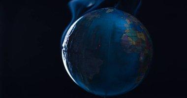 Planet Earth environmental disaster concept
