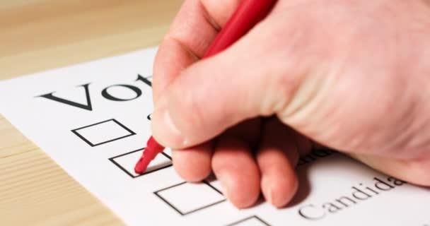 Abstimmung mit Stimmzettel