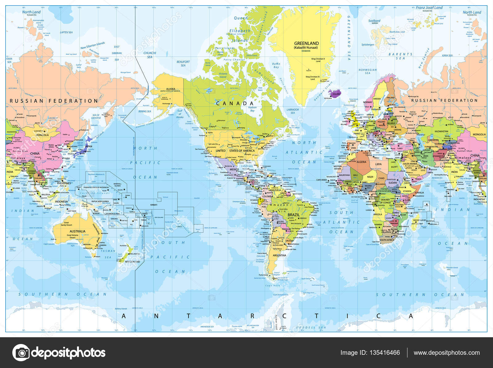 World map america in center bathymetry stock vector livenart world map america in center bathymetry highly detailed vector illustration of world map vector by livenart gumiabroncs Image collections