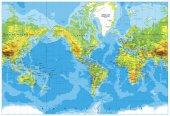Amerikai központú fizikai világ Térkép