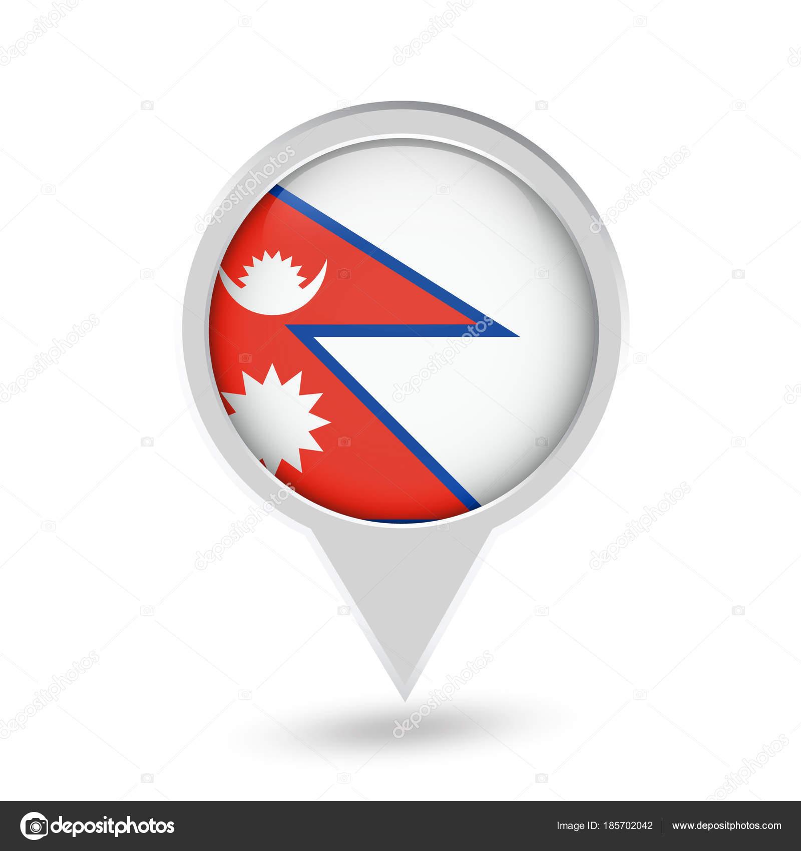 Nepal Flag Pin Icon Vector Icon — Stock Vector © Livenart
