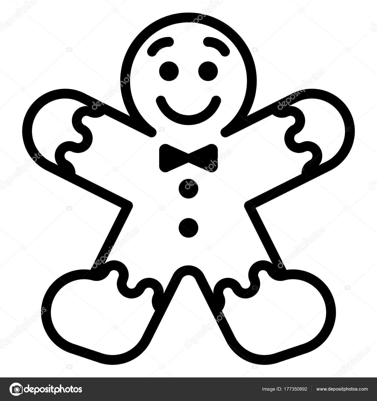 Dibujos animados pan de jengibre hombre aislado sobre fondo blanco ...