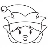 cartoon cute santas helper isolated