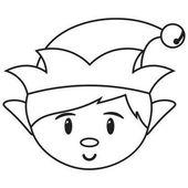 cartoon santas boy helper isolated
