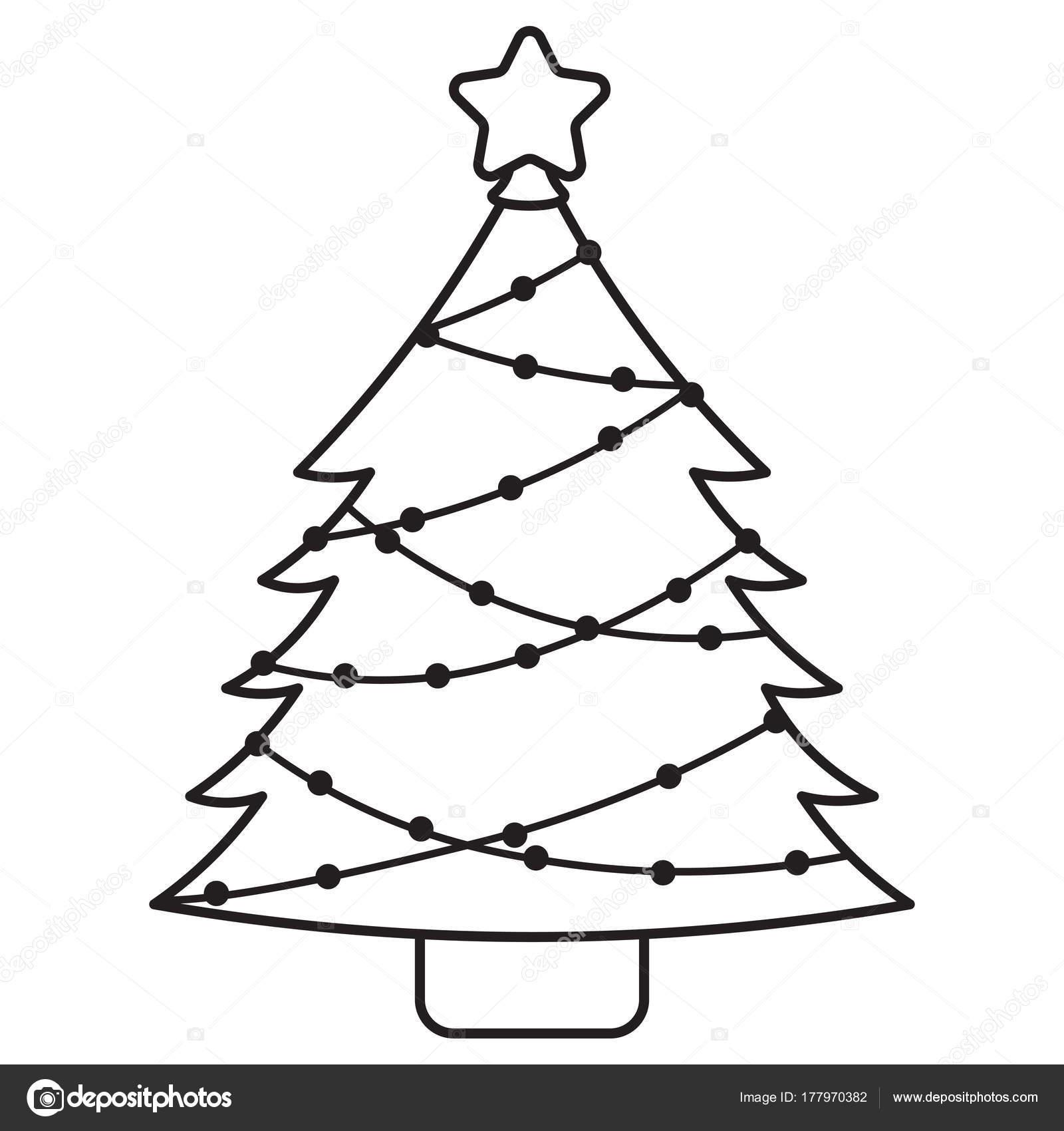 Cartoon Cute Christmas Tree Isolated Stock Vector C Aratehortua