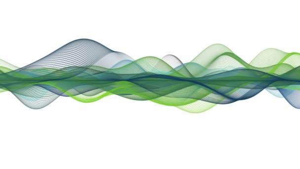 Video animace nádherné eco s wave objektu v pomalém pohybu, 4096 × 2304 smyčka 4k