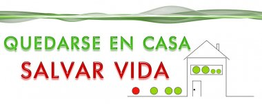 Panorama design illustration QUEDARSE EN CASA SALVAR VIDA stock vector