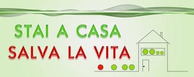 Illustrazione panoramica STAI A CASA SALVA LA VITA stock vector