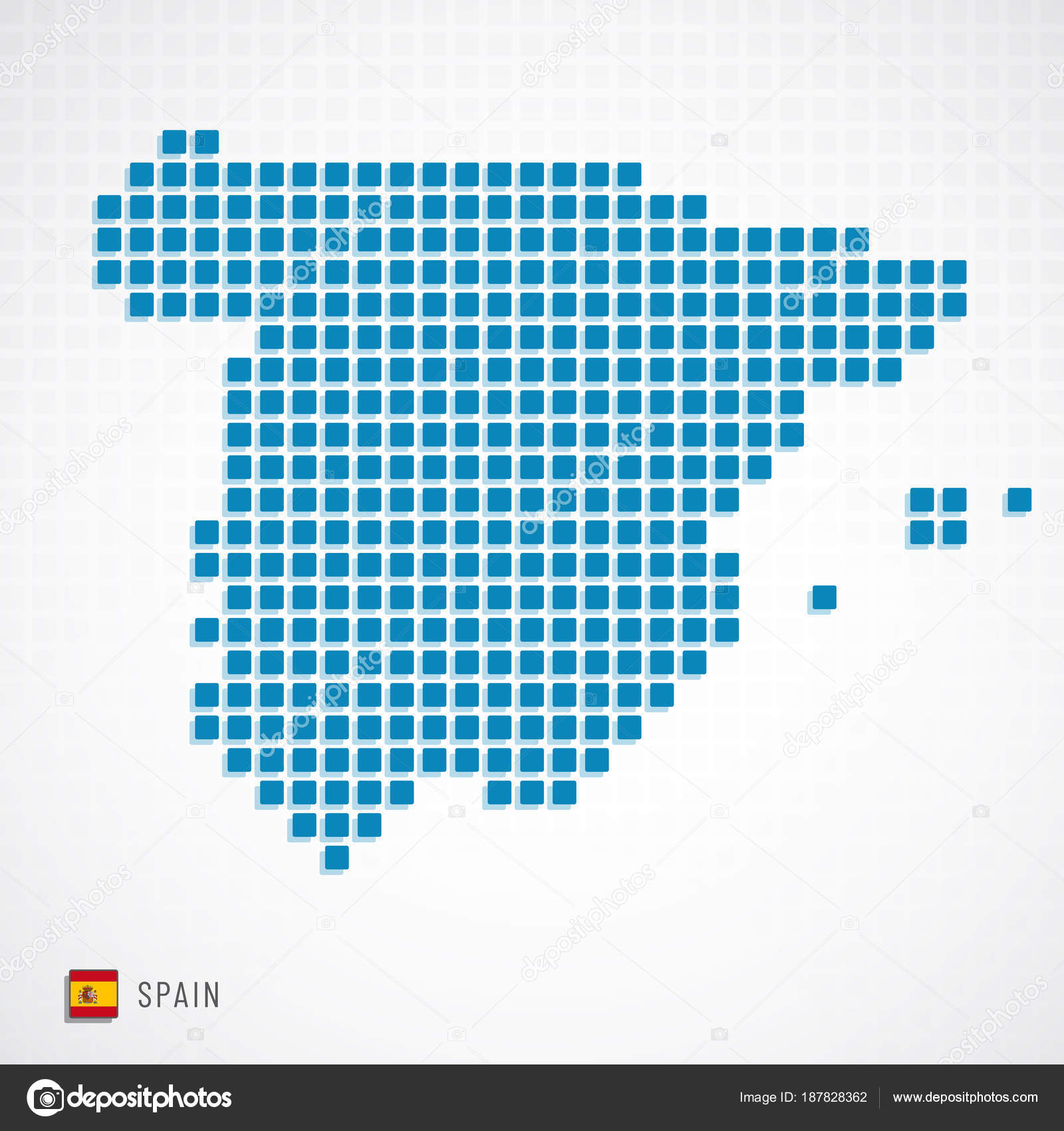 Spain Map Flag.Spain Map And Flag Icon Stock Vector C Kerdazz7 187828362
