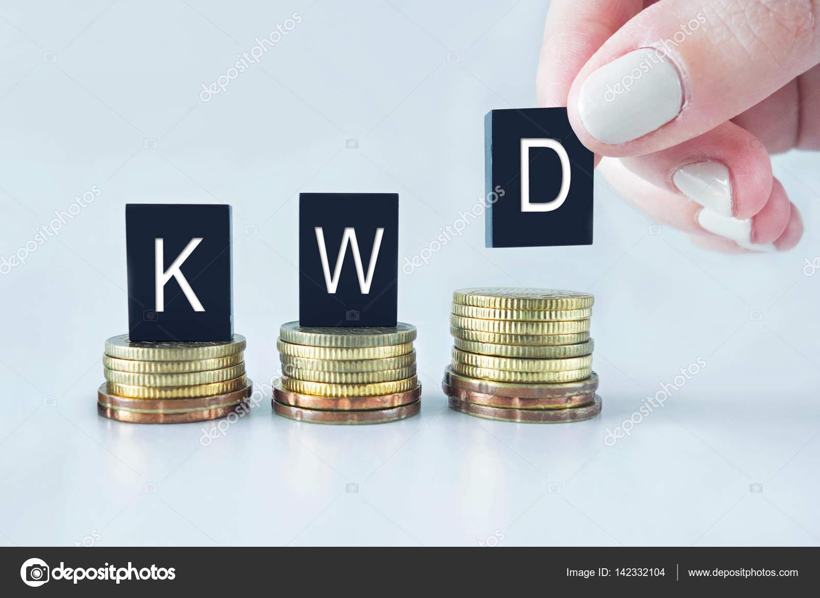 Para Birimi Kavramı Ile Sikkeler üzerinde Yığılmış Kwd Kuveyt