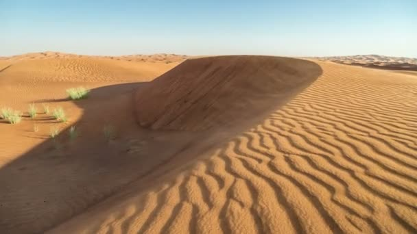 Timelapse Dunes and wind in Arabian Desert, Dubai, UAE