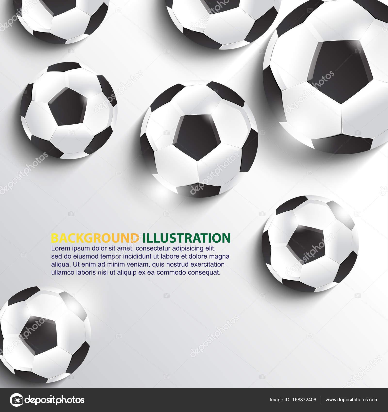Fußball-Kugeln-Vorlage — Stockvektor © Silverzeed #168872406