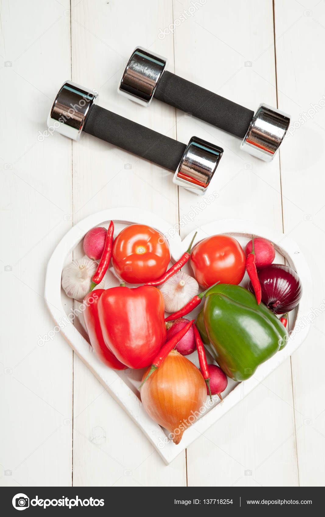 Диета здоровый образ жизни, приготовление свежих органических.