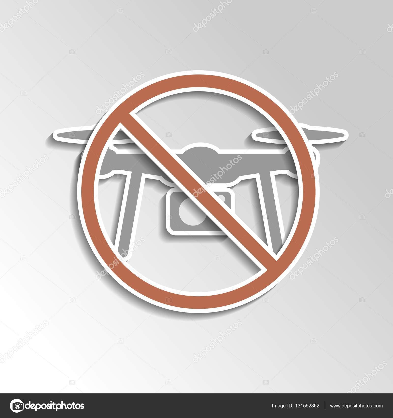 No Drone Icon On Gray Gradient Backgorund Stock Vector Muuraa