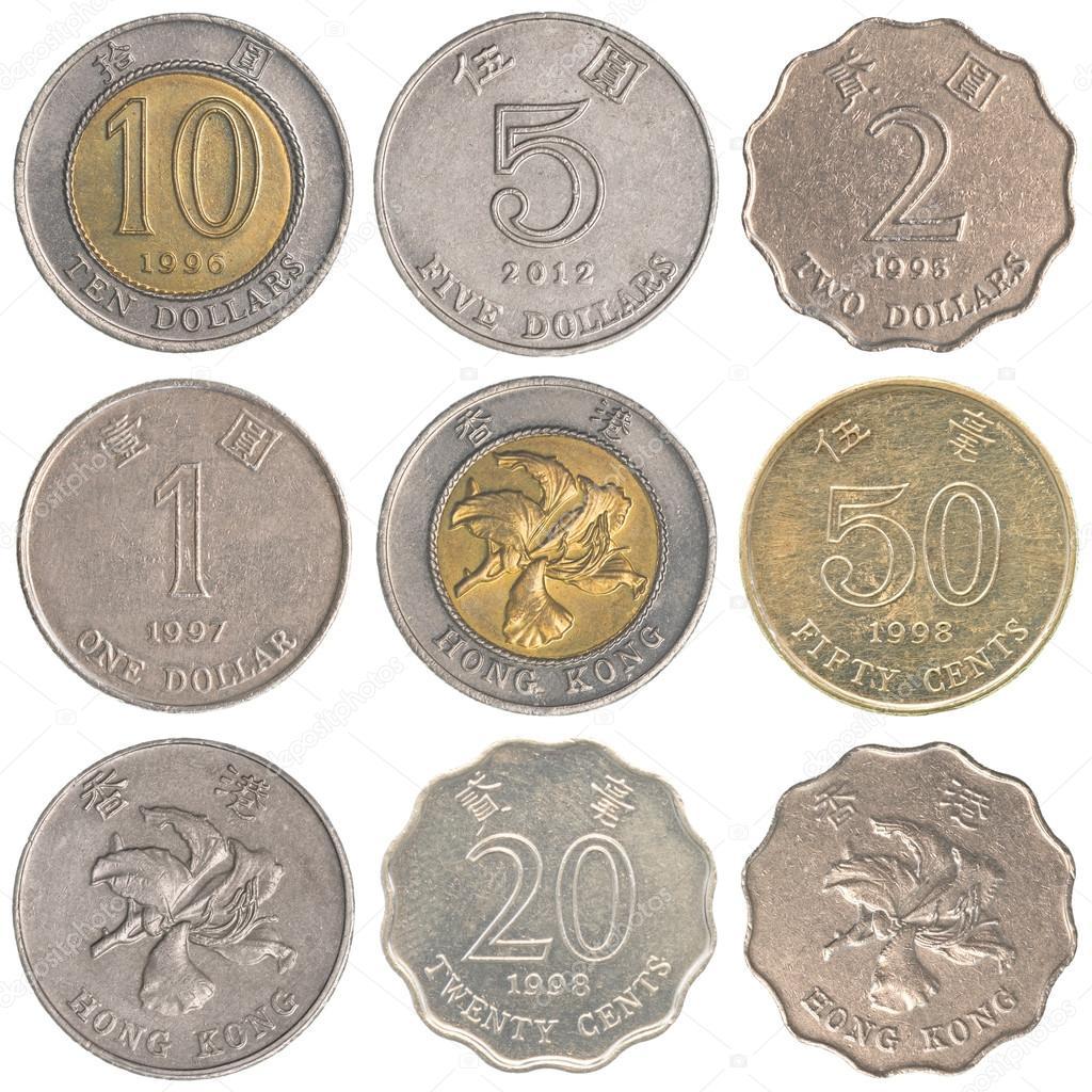 Hong Kong Dollar munten collectie set — Stockfoto © asafeliason #127658606