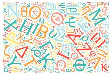 creative Greek alphabet texture background