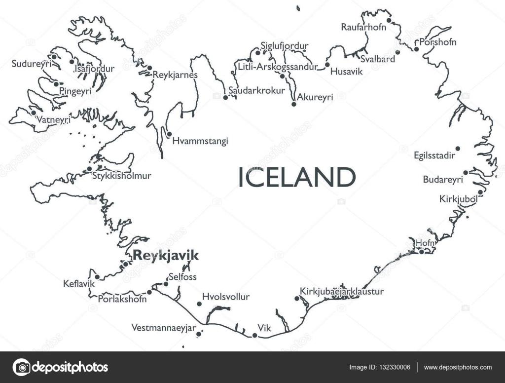 Vector map of Iceland — Stock Vector © lynx_v #132330006