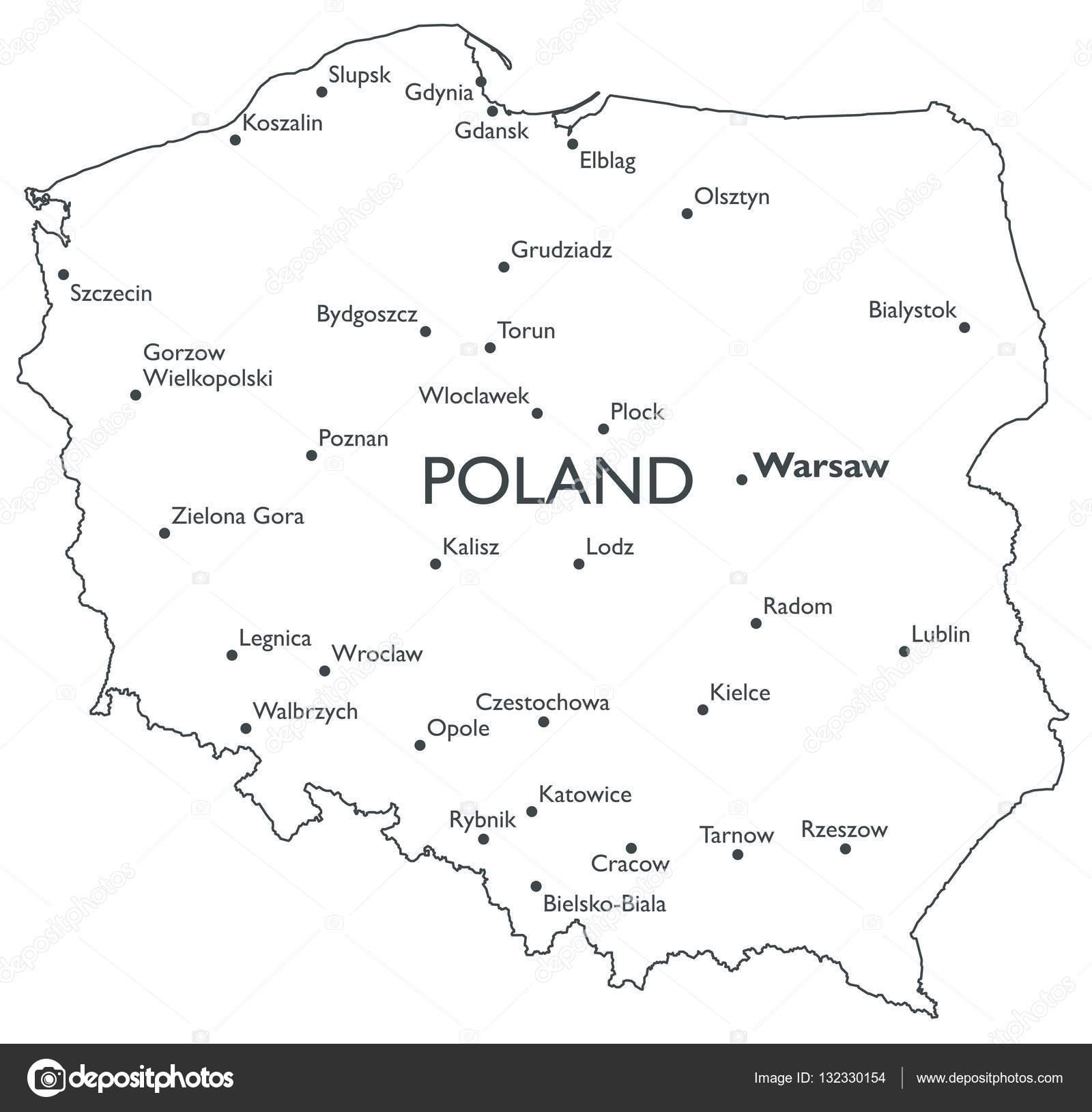 Vector Map Of Poland Stock Vector C Lynx V 132330154