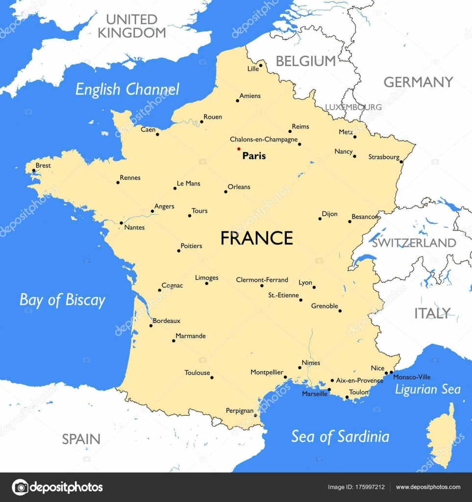 France Map Vector France Map Stock Vector lynxv 175997212
