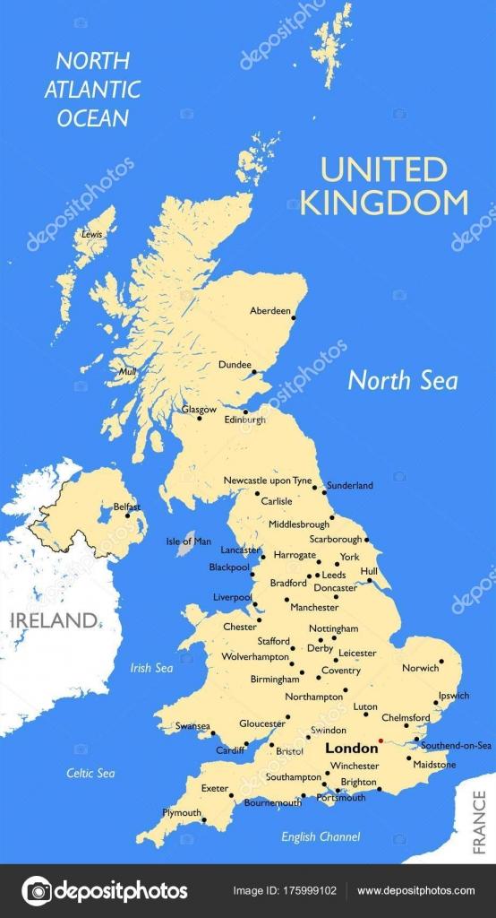 United Kingdom Map Vector Detailed United Kingdom Map Stock - United kingdom map vector