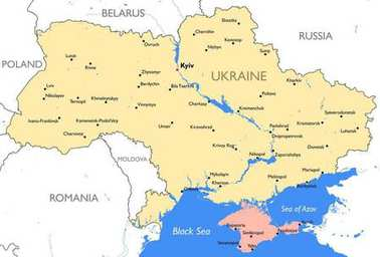 Ukraine map | Vector detailed color Ukraine map